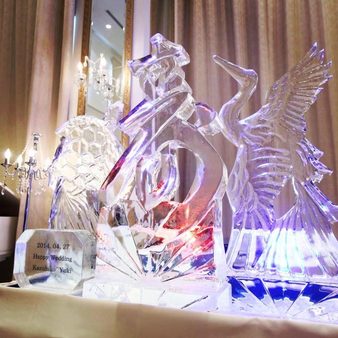 氷彫刻 寿
