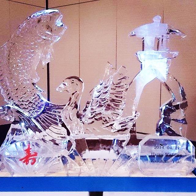 氷彫刻 灯篭